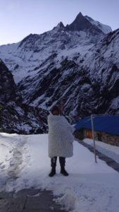 mbc trek, Machhapurche camp photo. mountain Nepal,
